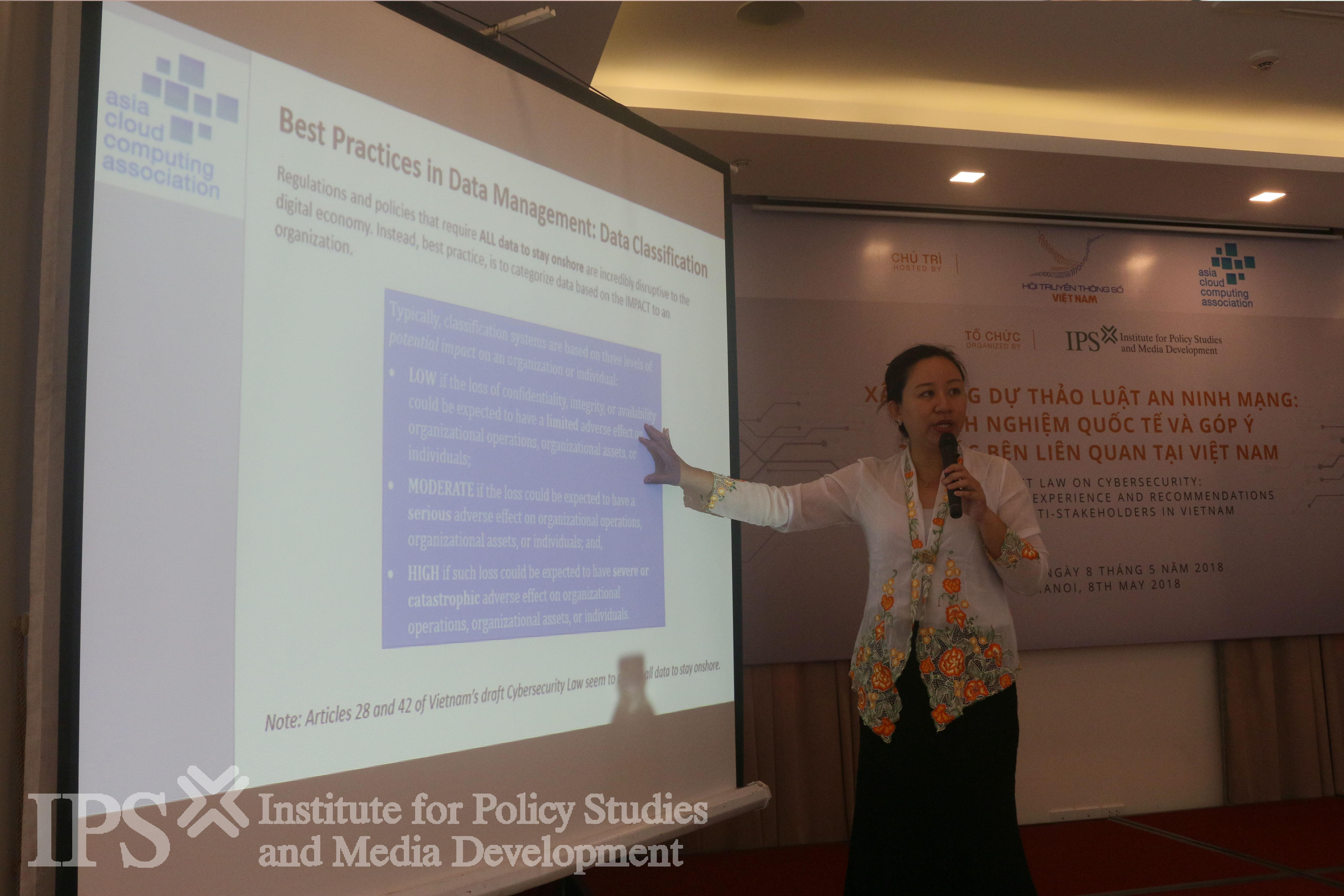 Bà Lim May-Ann, Giám đốc Hiệp hội Điện toán đám mây Châu Á. Ảnh: IPS