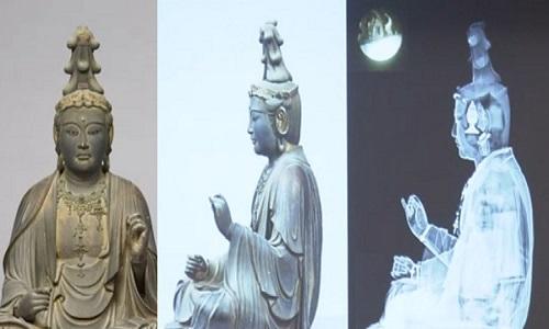 Tượng Văn Thù Bồ Tát ở Bảo tàng Quốc gia Nara. Ảnh: NHK.