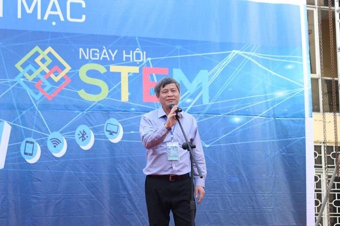 Thứ trưởng Bộ KH&CN Phạm Công Tạc phát biểu khai mạc ngày hội STEM 2018 và phát động cuộc thi tìm hiểu về bảng tuần hoàn hóa học nhân dịp UNESCO chọn năm 2019 làm năm của Bảng tuần hoàn