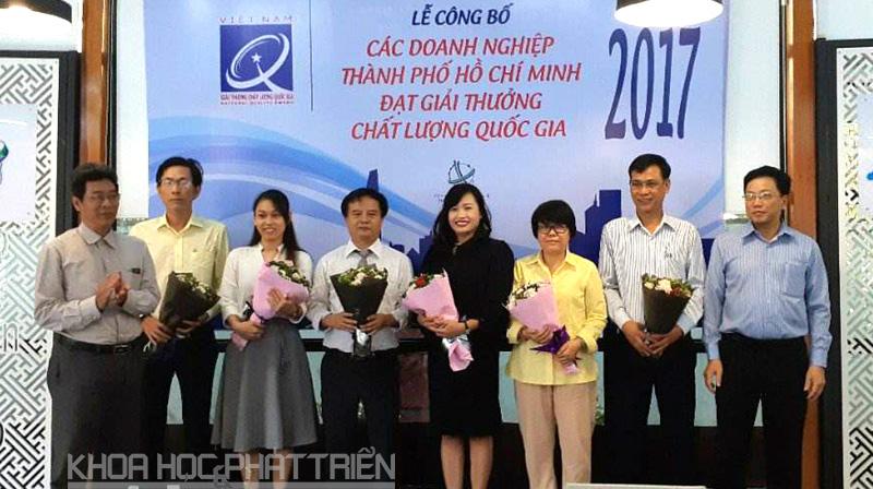 6 doanh nghiệp TPHCM đạt Giải thưởng chất lượng Quốc gia 2017