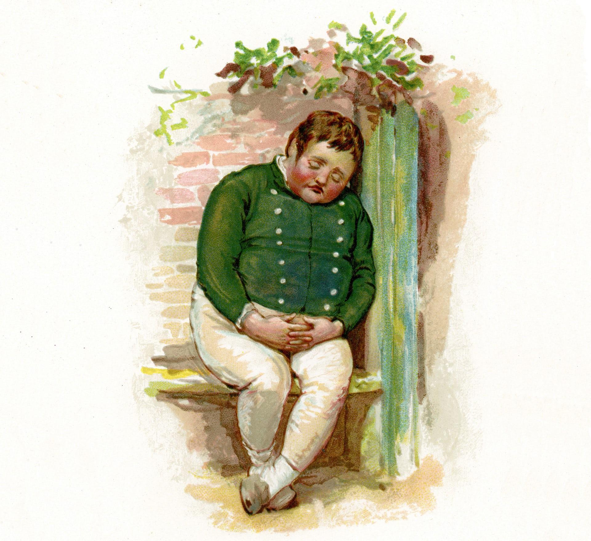 """Chứng thở chậm do béo phì, ban đầu được gọi là Triệu chứng Pickwick vì giống hệt với những mô tả của Charles Dickens về cậu bé Joe """"béo"""" trong tác phẩm Pickwick Papers. Ảnh: Alamy"""