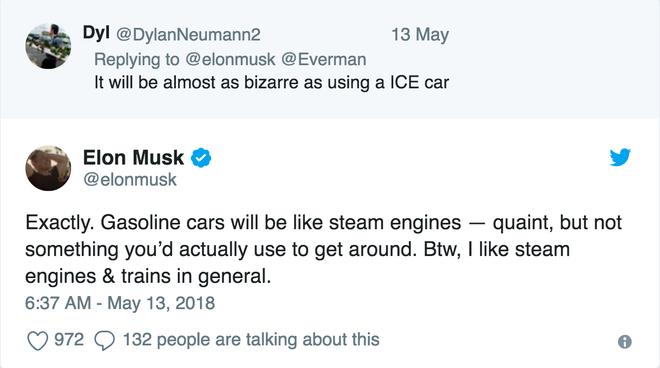 'Các chiếc xe ô tô chạy bằng khí đốt sẽ giống như những động cơ hơi nước vây. Chúng kỳ thú thật đấy, nhưng không phải là những thứ mà bạn muốn dùng để đi lại.'