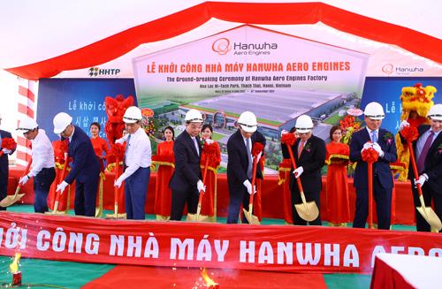 Nhiều dự án đầu tư lớn được khởi công xây dựng tại Khu CNC Hòa Lạc. Ảnh: VGP/Thu Cúc