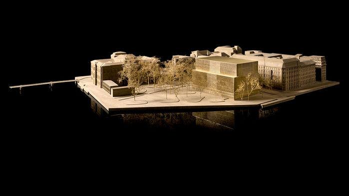 Mô hình thiết kế Trung tâm Nobel, nơi sẽ tổ chức lễ trao giải Nobel thường niên. Ảnh: © David Chipperfield Architects