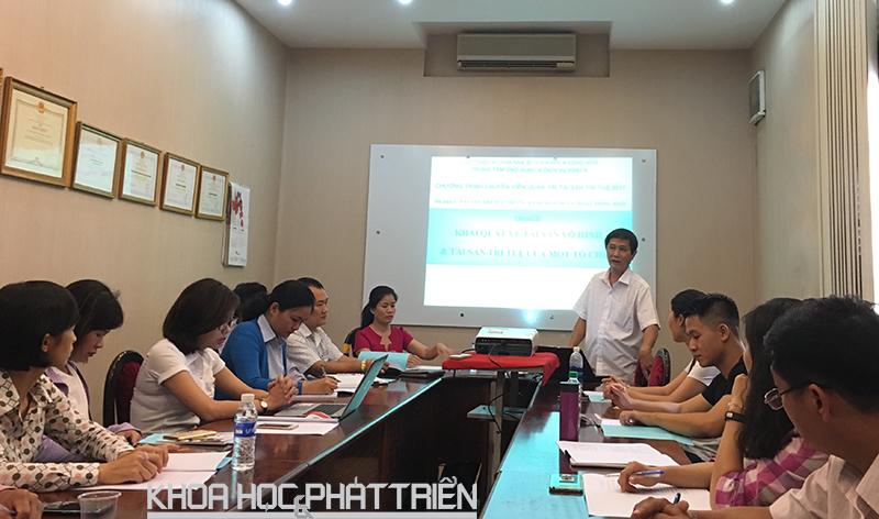 Một khóa đào tạo về quản trị tài sản trí tuệ do Trung tâm Ứng dụng và Dịch vụ khoa học và công nghệ tổ chức. Ảnh Minh Anh