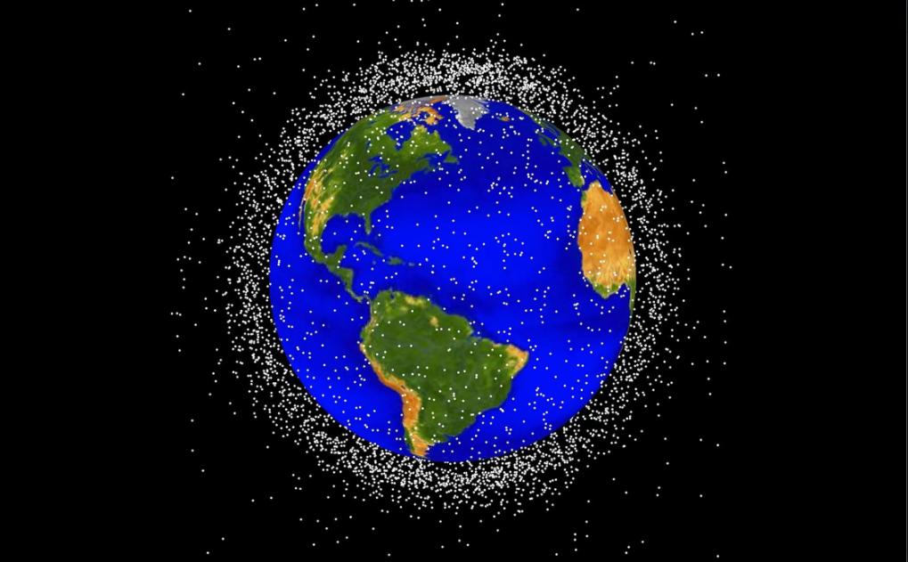 Rác vũ trụ trong quỹ đạo thấp của Trái Đất. Ảnh: NASA
