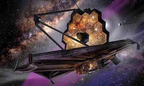 Kính viễn vọng James Webb sẽ hoạt động cách Trái Đất 1,5 triệu km. Ảnh: Healththoroughfare.
