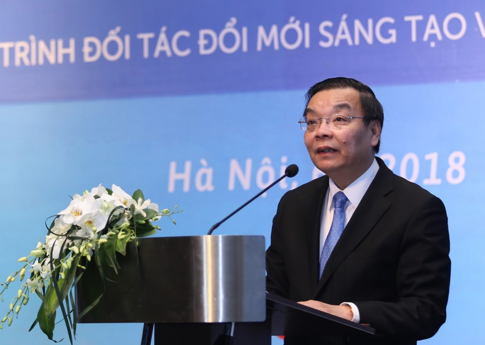 Bộ trưởng Chu Ngọc Anh phát biểu tại sự kiện. Ảnh: Ngũ Hiệp.