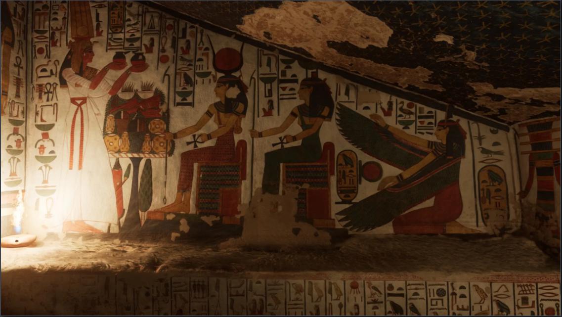 """Du khách thậm chí sẽ có trải nghiệm như đang dạo bước """"ảo"""" bên trong khu mộ. Ảnh: Curiosity Stream"""