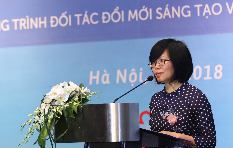 Chị Trần Thị Thu Hương, Giám đốc Chương trình IPP2. Ảnh: TTTT KH&CN Bộ KH&CN
