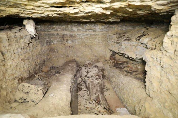 Một trong những nơi mai táng. Ảnh: Bộ cổ vật Ai Cập