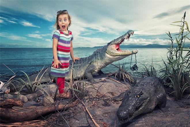 """Ông bố """"bựa nhất năm"""", chụp hình những đứa con và đưa chúng vào thế giới viễn tưởng bằng Photoshop - Ảnh 10."""