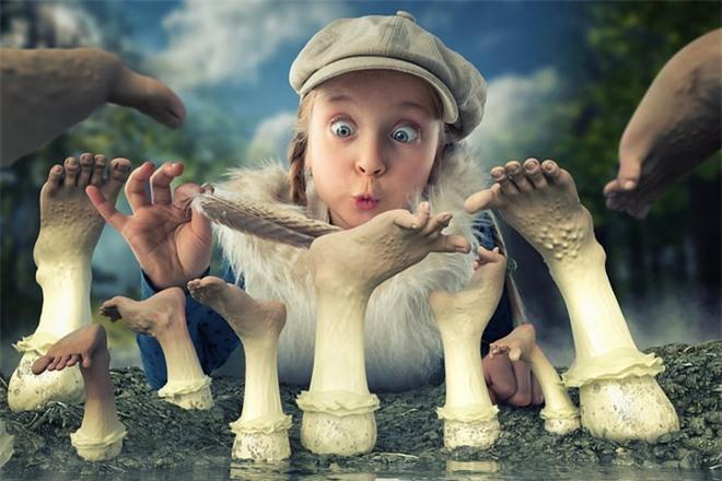 """Ông bố """"bựa nhất năm"""", chụp hình những đứa con và đưa chúng vào thế giới viễn tưởng bằng Photoshop - Ảnh 21."""