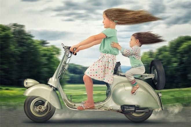 """Ông bố """"bựa nhất năm"""", chụp hình những đứa con và đưa chúng vào thế giới viễn tưởng bằng Photoshop - Ảnh 4."""
