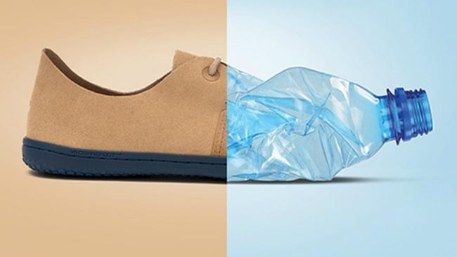 Bộ sưu tập giày mới của Vivobarefoot được làm từ chai nhựa tái chế - Ảnh: Business Insider