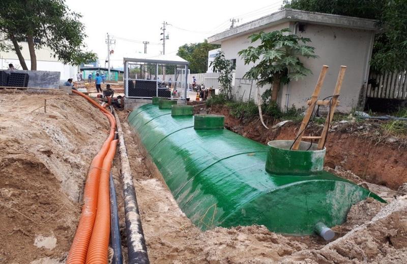 Lắp đặt hệ thống xử lý nước thải không qua bể tự hoại tại Công ty sản xuất dựng cụ thể thao Daiwa