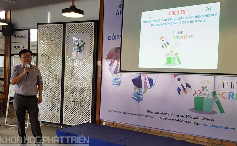 Ông Nguyễn Hải An - Giám đốc AHBI giới thiệu về Cuộc thi