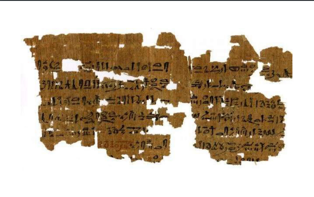 Phương pháp thử thai kỳ lạ được ghi chép trên tập bản thảo giấy cói. Ảnh: The Carlsberg Papyrus Collection / University of Copenhagen.