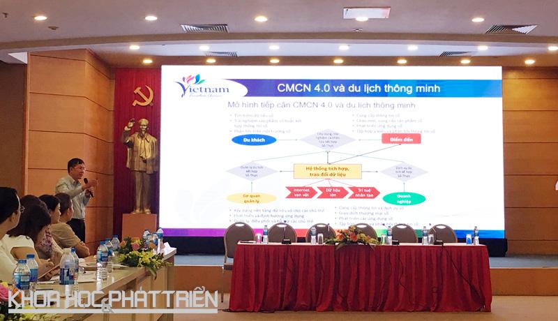 Ông Vũ Quốc Trí chia sẻ về kế hoạch phát triển của du lịch Việt Nam trong cuộc CM 4.0. Ảnh: Ngọc Vũ