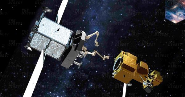 Robot có thể là giải pháp cho vấn đề sửa chữa, bảo trì các vệ tinh không gian. Ảnh: Futurism.