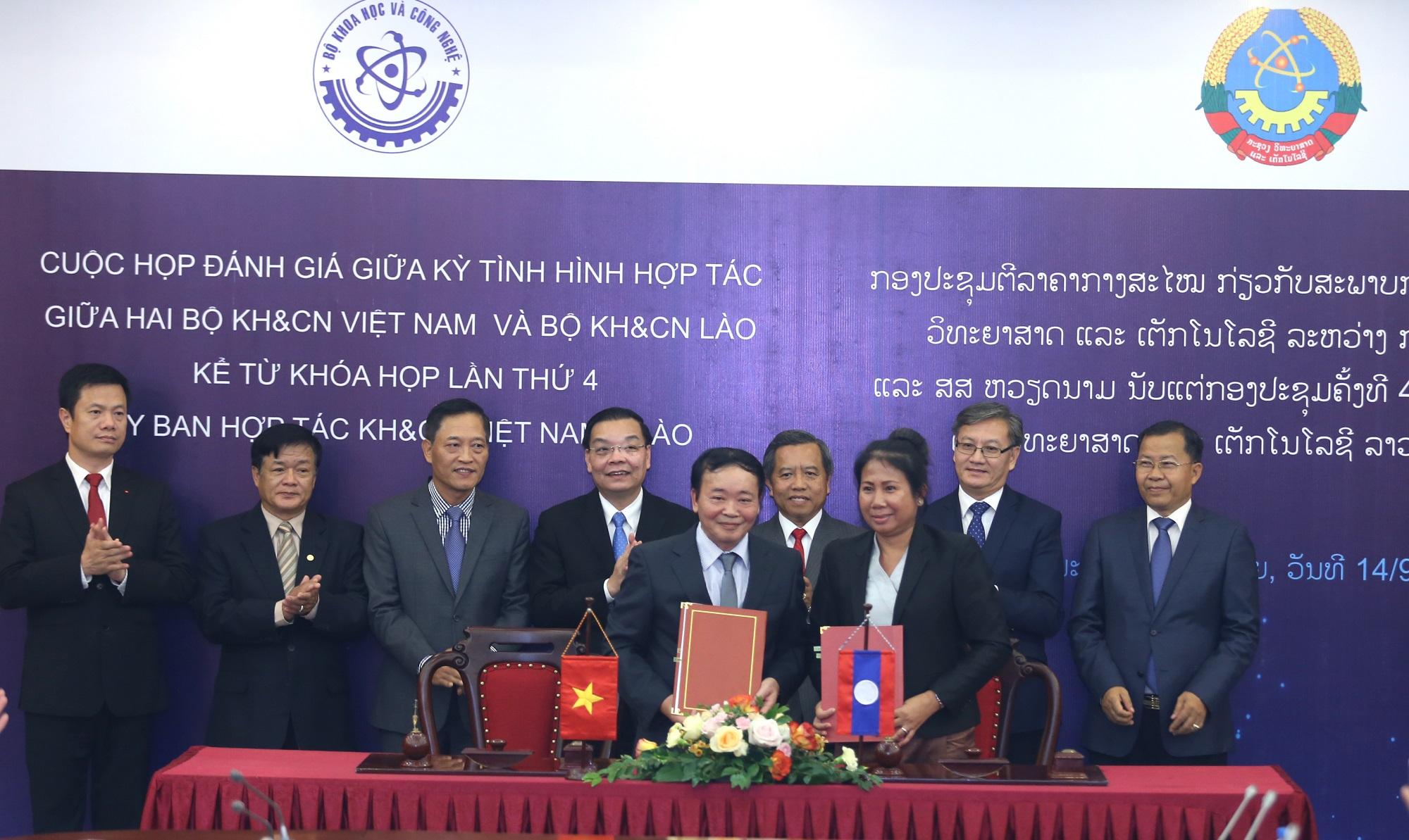 Lễ ký Thỏa thuận hợp tác giữa Văn phòng Đảng ủy Bộ KH&CN Việt Nam và Văn phòng Đảng ủy Bộ KH&CN Lào