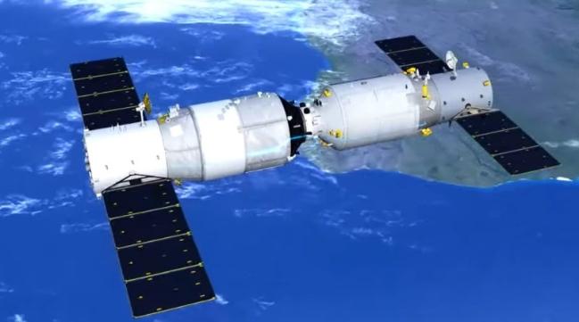 Hình ảnh đồ họa trạm Thiên Cung 2 của Trung Quốc - Ảnh: Internet