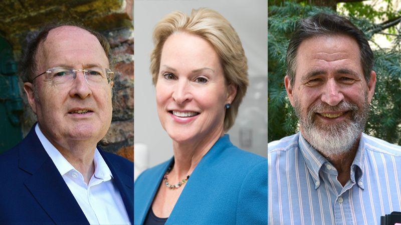 Gregory Winter (bên trái), Frances Arnold (giữa), George Smith (bên phải) cùng đoạt giải Nobel hóa học năm 2018. Ảnh: Nature.