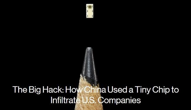 Con chip gián điệp siêu nhỏ chỉ to bằng đầu bút chì - Ảnh: Bloomberg