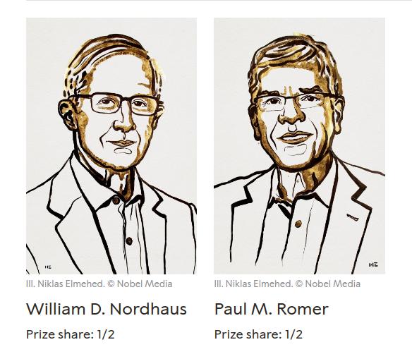 Nobel Kinh tế 2018 lại một lần nữa thuộc về người Mỹ. Ảnh: Nobel Prize