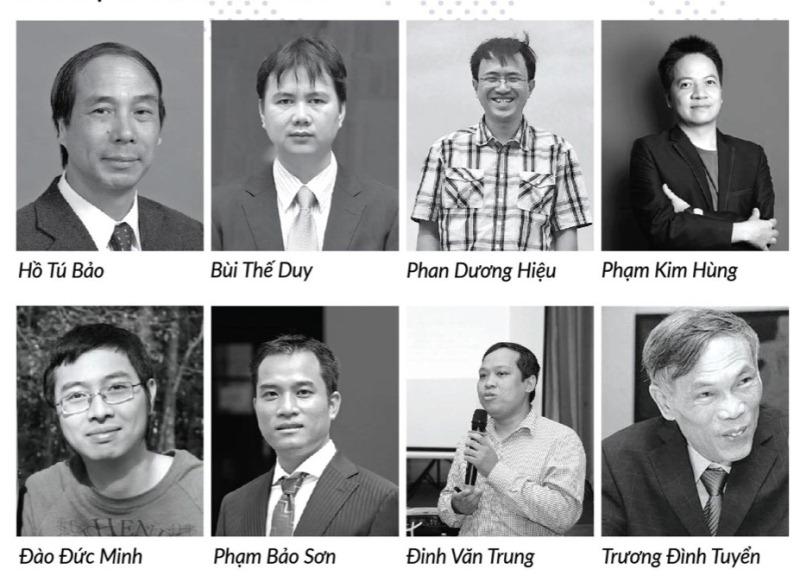 Những khách mời tham gia thuyết trình và tọa đàm tại Ngày hội Toán học Mở 2018. Nguồn: viasm.edu.vn