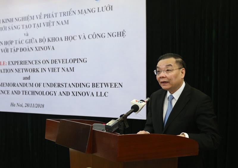 Bộ trưởng Bộ KH&CN Chu Ngọc Anh phát biểu tại lễ ký kết