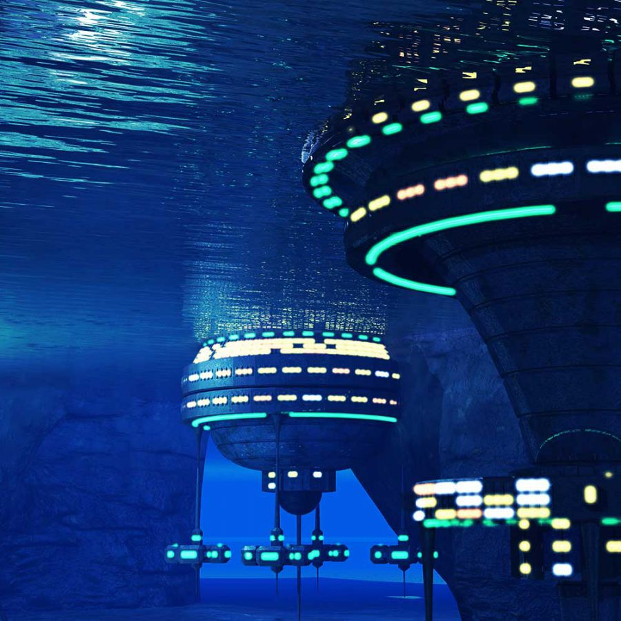 Cơ sở nghiên cứu dưới lòng biển, hoàn toàn do AI vận hành trong kế hoạch của Trung Quốc. Ảnh: Futurism.