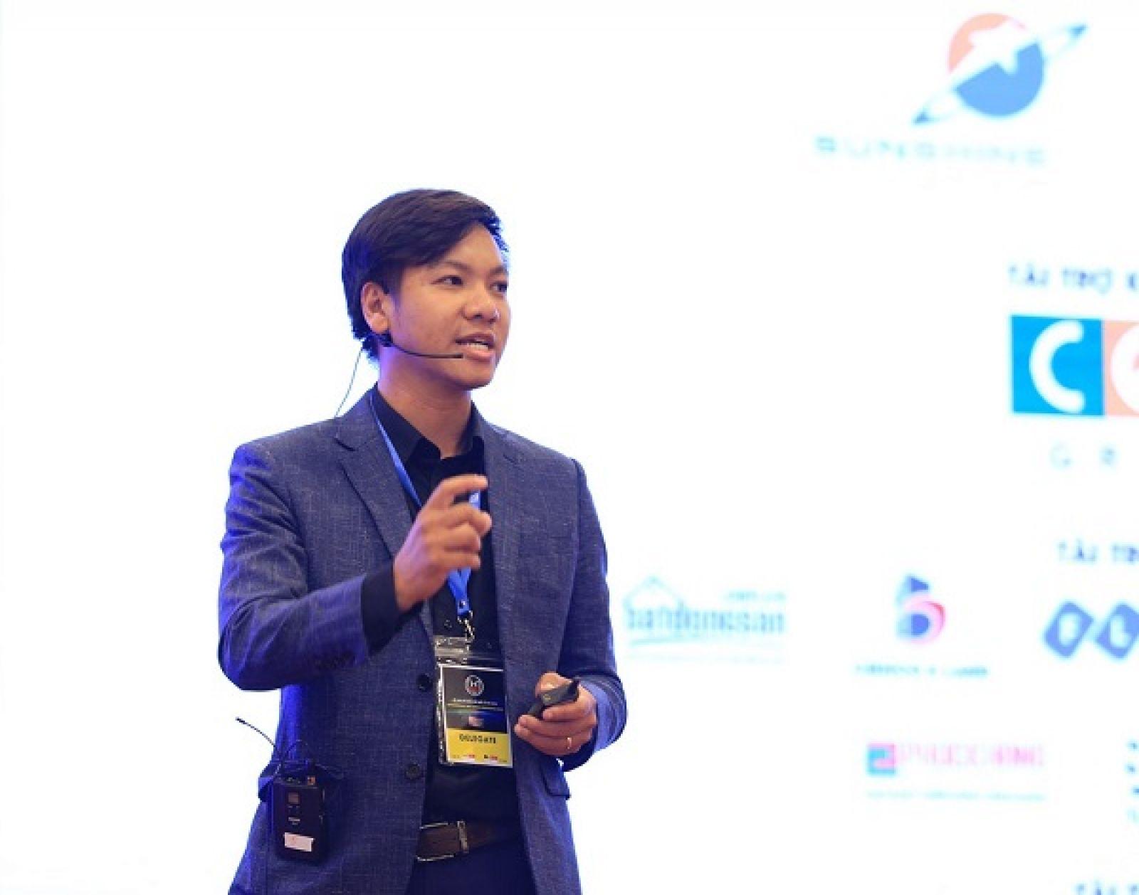 Lê Hoàng Nhật, đồng sáng lập kiêm CEO công ty công nghệ Ami. Ảnh: khoinghiep.org.vn