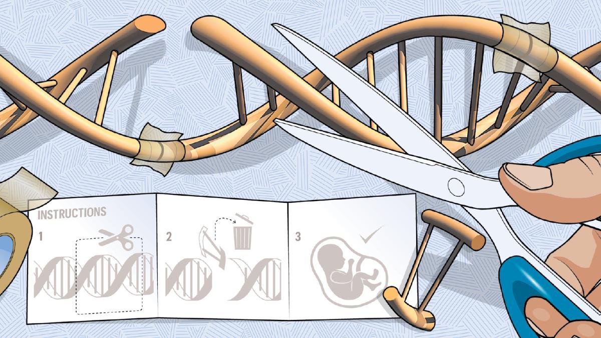 Công nghệ chỉnh sửa gene tạo ra các em bé miễn dịch với virus HIV. Ảnh: Times.