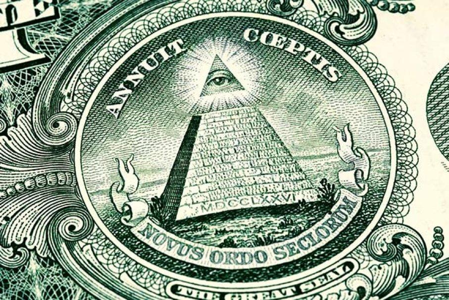 Biểu tượng con mắt của Illuminati trên đồng đô la Mỹ. Ảnh: HowStuffWorks