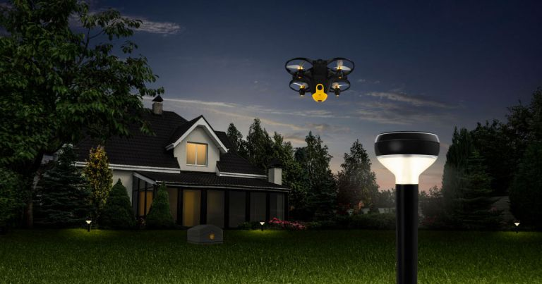 Viễn cảnh sử dụng drone và cảm biến do thám canh giữ nhà sắp trở thành hiện thực. Ảnh: Futurism.