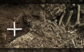 ADN chủng vi khuẩn dịch hạch được trích xuất từ răng một phụ nữ trong ngôi mộ tập thể ở Thụy Điển - Ảnh : Karl-Göran Sjögren/Đại học Gothenberg