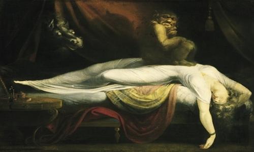 Tác phẩm Nightmare của Henri Fusali (1781) được xem là tác phẩm khắc họa hiện tượng bóng đè nổi tiếng. Ảnh: News