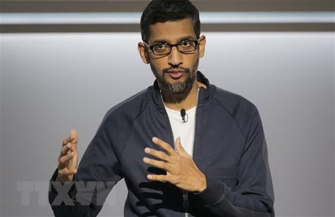Giám đốc điều hành (CEO) Google Sundar Pichai phát biểu tại một sự kiện ở San Francisco, California, Mỹ . (Nguồn: AFP/TTXVN)