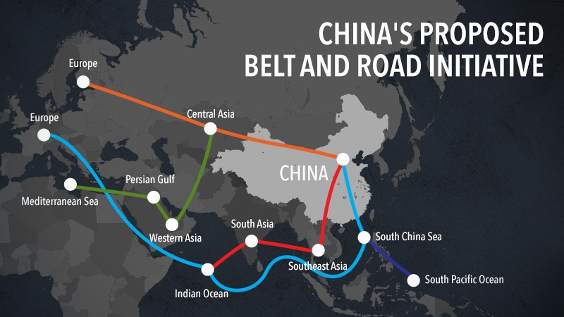 Sáng kiến Vành đai – Con đường của Trung Quốc. Ảnh: The Jarkata Post
