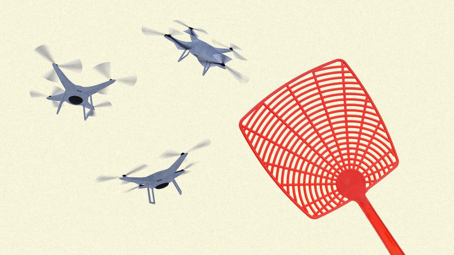 Drone thực sự là một mối nguy tiềm ẩn đối với máy bay. Ảnh: Futurism.