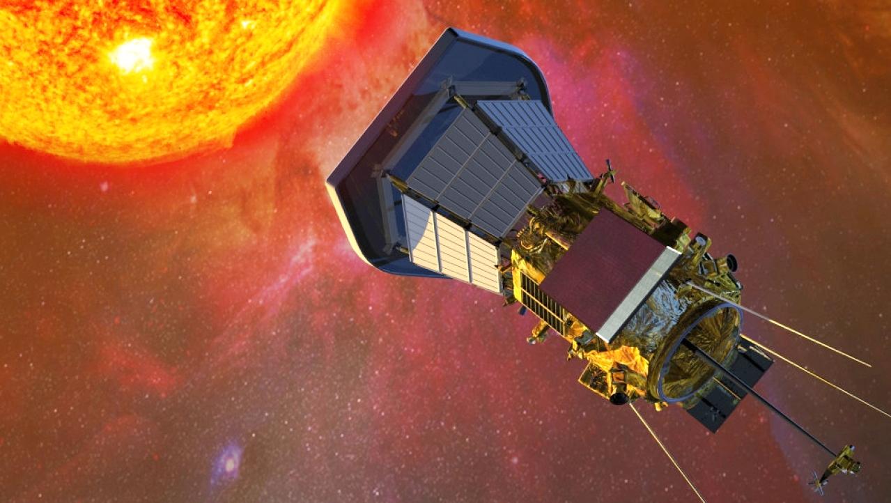 Tàu thăm dò Parker của NASA tiếp cận Mặt trời. Ảnh: NASA
