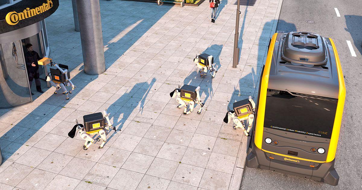 Viễn cảnh những chú chó robot giao hàng trên đường phố có thể sẽ trở thành hiện thực. Ảnh: Futurism.