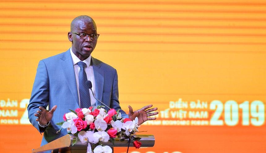Ông Ousmane Dione - Giám đốc quốc gia Ngân hàng Thế giới tại Việt Nam (WB) tại Diễn đàn Kinh tế Việt Nam 2019