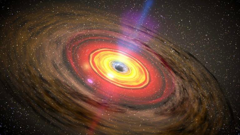 Hố đen có mật độ vật chất đậm đặc đến mức ngay cả ánh sáng cũng không thể thoát khỏi lực hấp dẫn của nó. Ảnh: NASA.