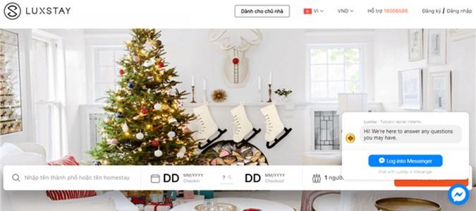 Ứng dụng kết nối cho thuê nhà Luxstay. Ảnh chụp màn hình.