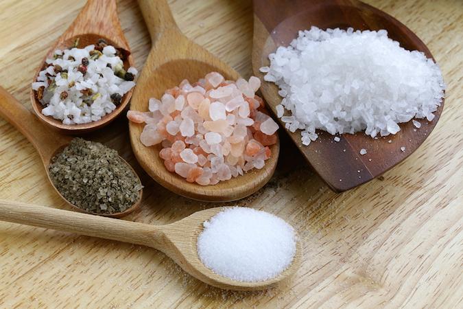 Các loại muối khác nhau về kích thước, bề mặt và thành phần