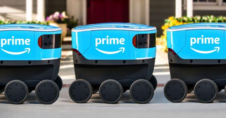 Robot giao hàng của Amazon. Ảnh: Amazon.