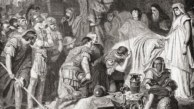 ái chết của Alexander Đại đế năm 323 TCN. Nguồn: Universal History Archive