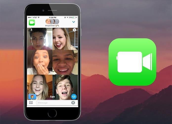 Tính năng gọi FaceTime trên điện thoại iPhone. Ảnh: CNBC